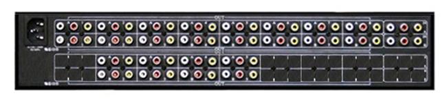 独立的AV信号输入输出;视频,音频采用RCA母头;高带宽150MHz(不同规格有所不同),满载的高带宽;8路AV分配器采用高带宽芯片,高性能的图像处理及信号长矩离传输失真增益补偿技术;采用数字同步识别处理技术,图像输出更加稳定可靠;全贴片SMD工艺,特有的ESD静电保护技术;支持信号时序重整,支持高清电视(HDTV)的带宽;机架式导电机箱,有效屏蔽干扰信号适用恶劣的现场安装环境;安装简单,即插即用。
